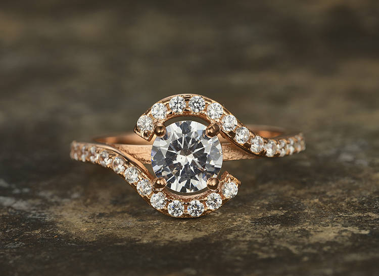 6.5mm Round Cut CZ Engagement ring 925 sterling silver wedding band rose gold plated Purple Bridal ring,birthstone halo art deco 3 4mm round cut brilliant cz 925 sterling silver rose gold plated women fashion engagement wedding cubic zirconia ring