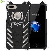 R JUST BATMAN Series Luxury Doom Heavy Duty Armor Metal Aluminum Mobile Phone Cases For Apple
