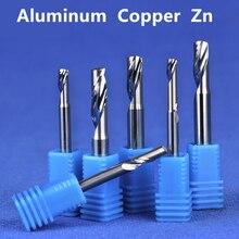 5PCS Free trasporto libero, cnc solid carbide end mill, alluminio incisione e taglio fresa, alucobond & copper & Zn composito coltello