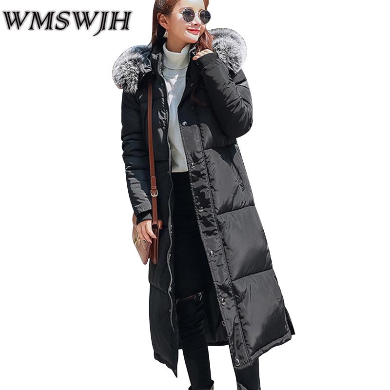 2017 New Women Winter Coat Wadded Jacket Long Warm Parka Thickening Fur Hoodies Abrigos Female Snow Wear Casual Jacket Overcoat