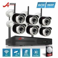ANRAN P2P Plug Play 960P HD 8CH NVR Kit 6pcs 36 IR Day Night Outdoor 1