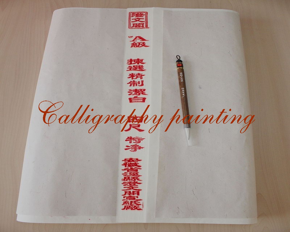 100pc Rice Xuan Paper Painting Calligraphy Sumi-e +1PC Santu Brush  100pc Rice Xuan Paper Painting Calligraphy Sumi-e +1PC Santu Brush