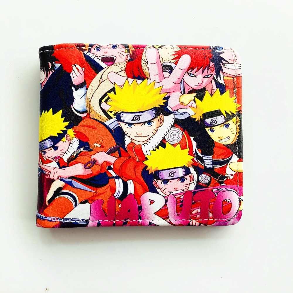 Аниме комиксов складной кошелек Uzumaki Naruto Учиха Итачи и Гаара Высокое качество Короткие PU кошелек W876J