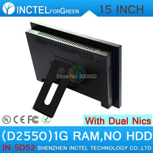 All in one desktop pc with 5 wire Gtouch 15 inch LED touch 1G RAM ONLY Dual 1000Mbps Nics