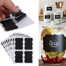 36pcs/set Blackboard Sticker Craft Kitchen Jars Organizer Labels Chalkboard Chalk Board Sticker 5cm x 3.5cm Black Board