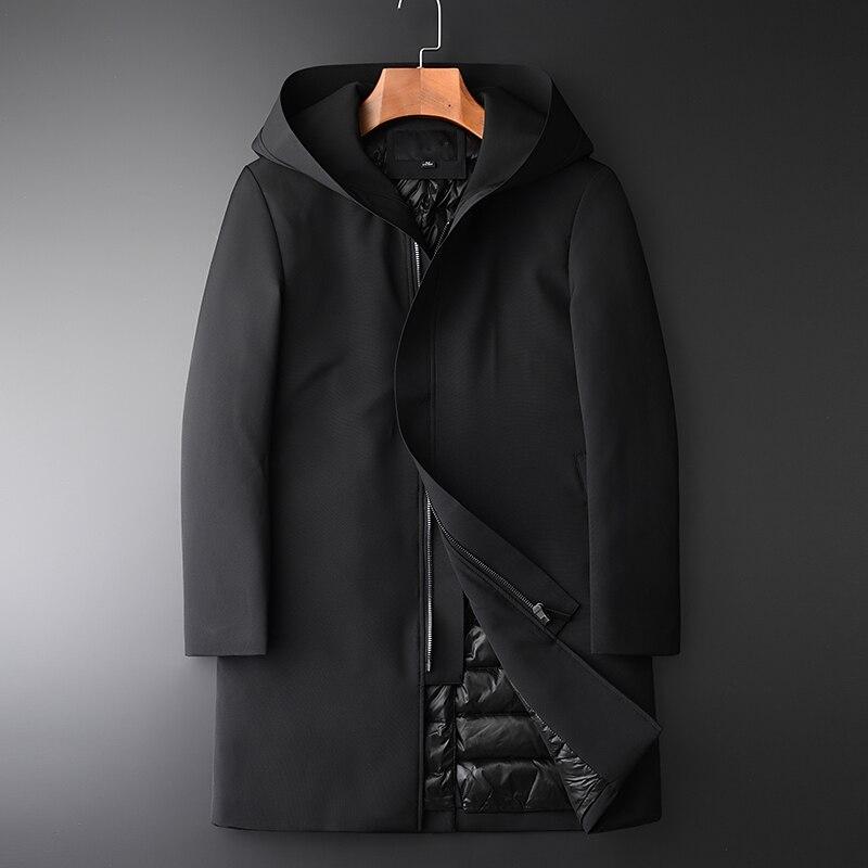 Minglu Kurze Stil Unten Mantel Männlichen Luxus Stehkragen Slim Fit Ente Unten Jacke Männer Plus Größe 4xl Dicke Warme winter Unten Mäntel