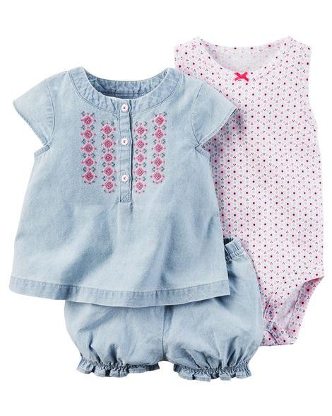 2018 NEW Summer Children Kids 3pcs Baby Girls Clothes Brand Carte  Cotton Tops + Bodysuit+ Shorts