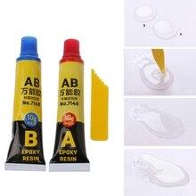 цена на 2PCS Epoxy Resin AB Glue All Purpose Adhesive Super Glue For Glass Metal Ceramic qiang