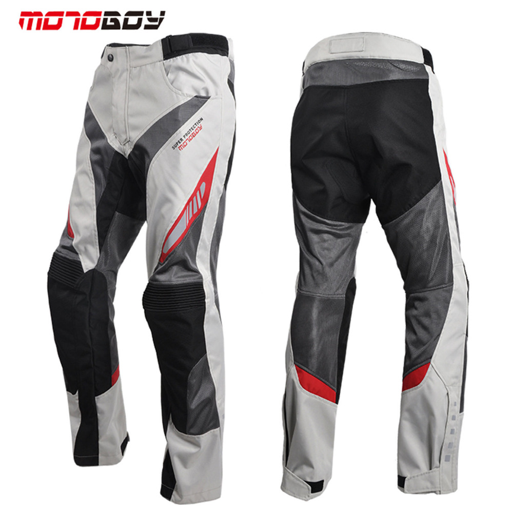 Free shipping 1pcs Summer Motorbike Pants Motorcycle Waterproof Cordura Textile Trousers Armours Motorcycle Pants With 4pcs pads