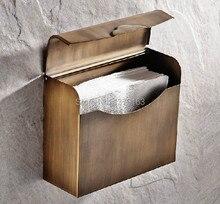 Новый античная латунь медь площадь покрыта бумаги полотенцедержатель / ванной комнаты aba301