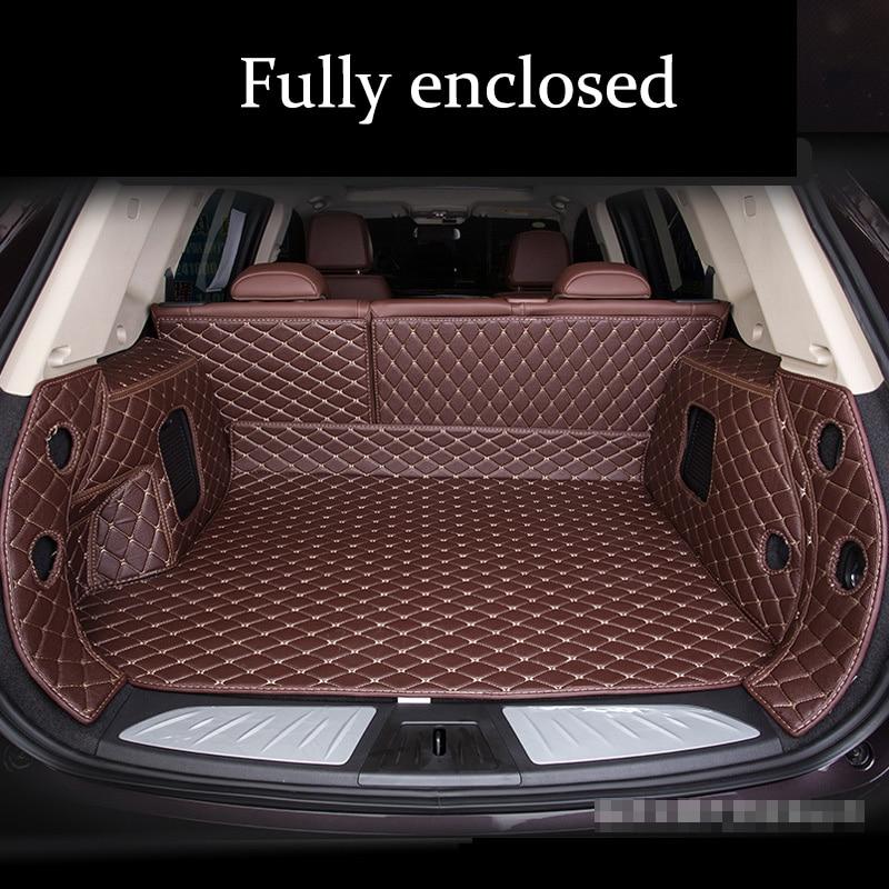Car Trunks Mats For INFINITI ESQ 2014-2017s FX Ⅱ/FX35 EX/EX25 JX/JX35 7seat 2007-2013s M25 M25L QX50 QX60 QX80 Q50 2007-2018s