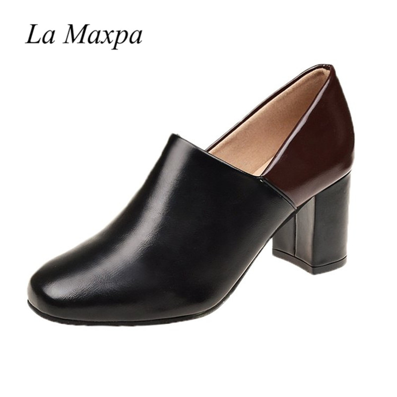 Soft Leather Shoes Women High Heels Pumps Square Toe Handmade Mules Fahion Square Heel Ladies Office Shoes 2018 New Office Pumps zorssar 2018 new fashion buckle genuine leather thick heel womens shoes heels square toe high heels pumps ladies office shoes