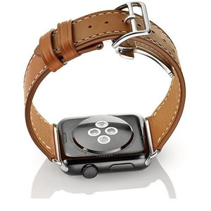 Image 2 - Watch Bracelet For Apple Watch Seires 4 5 40 44mm Genuine Leather Strap For herm Apple Watch Band Series 1 2 3 iWatch Watchbands
