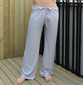 Мужские брюки мужские днища сна вискоза дома штаны свободные сексуальные мужские lounge брюки шелк молока мода ремень сексуальные мужчины пижамы