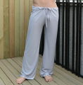 mens pants mens sleep bottoms viscose home pants loose sexy mens lounge pants milk silk fashion strap sexy male pajamas