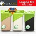 Caso de cuero 100% Original Leagoo M5 M5 Oficial Del Tirón de Lujo Funda de Piel Cubierta Protectora Para Leagoo Teléfono Móvil