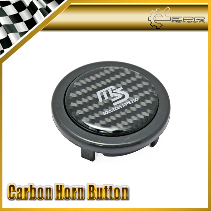 New Car Styling For Mazda Mazdaspeed Real Carbon Fiber Steering Wheel Push Horn Button