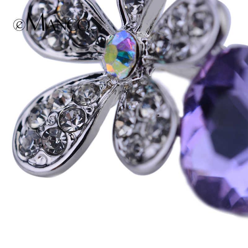 Di lusso di Fiori viola di cristallo del rhinestone spille eManco 2016 Nuovo di Alta Qualità di Modo di bijoux regalo Di Natale Creativo BR02778