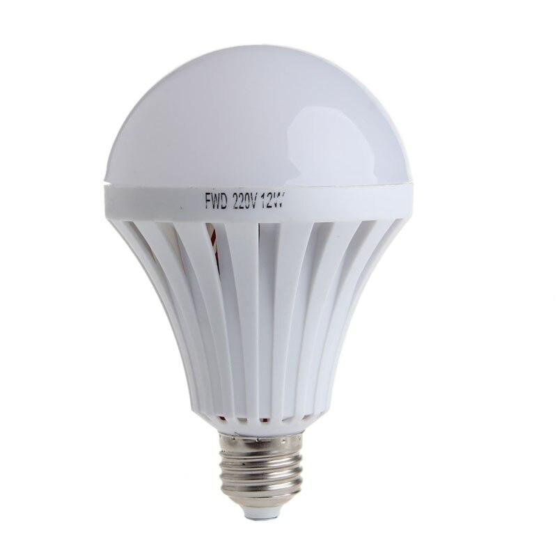 LED Smart Bulb E27 12W AC 220V Emergency Light Lighting Lamp Flashlight T15