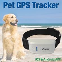 2015 Мини GPS трекер для питомцев Водонепроницаемый трекер для собак и кошек для слежения в реальном времени с помощью приложения для IOS и Android 4 цвета TKStar