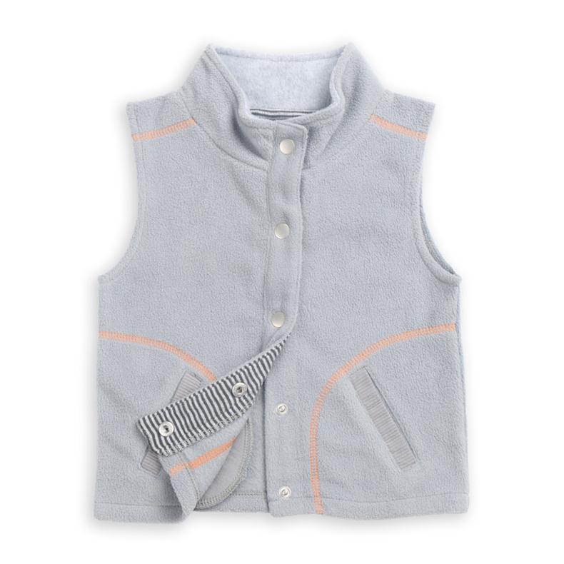 LeJin Baby Boy Clothing Jacket Waistcoat Fleece Wear Outerwear Baby Wear Vest Spring Autumn Warm Keeping Fluffy Fashion