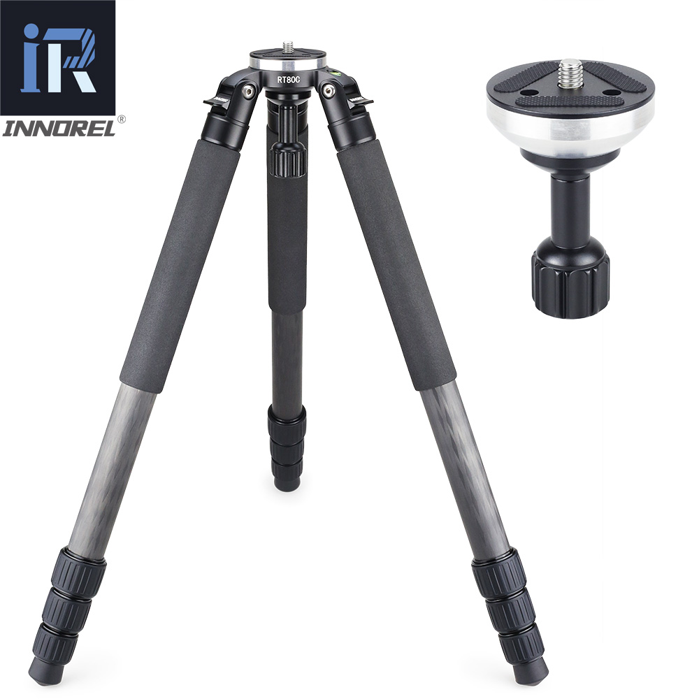 Image 4 - RT80C Professional carbon fiber tripod for DSLR camera video camcorder Heavy duty birdwatching camera stand bowl tripod 20kg max-in Tripods from Consumer Electronics