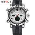 Weide marca esportes relógios dos homens relógio de quartzo Relogio digitais Masculino militar Dual Time zona Back Light de pulso de exibição