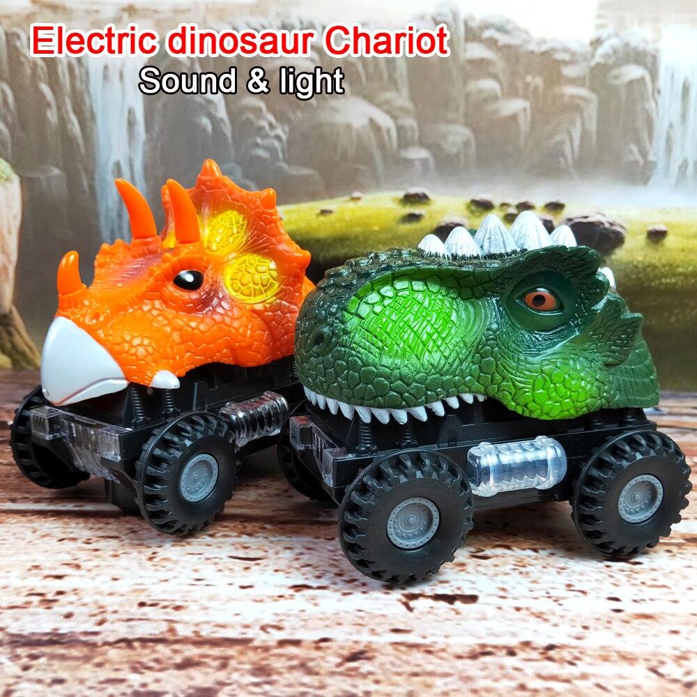 De Juguete Niños Juguetes Para Luz Coche Dinosaurio Led Eléctricos Vehículo Modelo Animal Camión rxtsQdCh