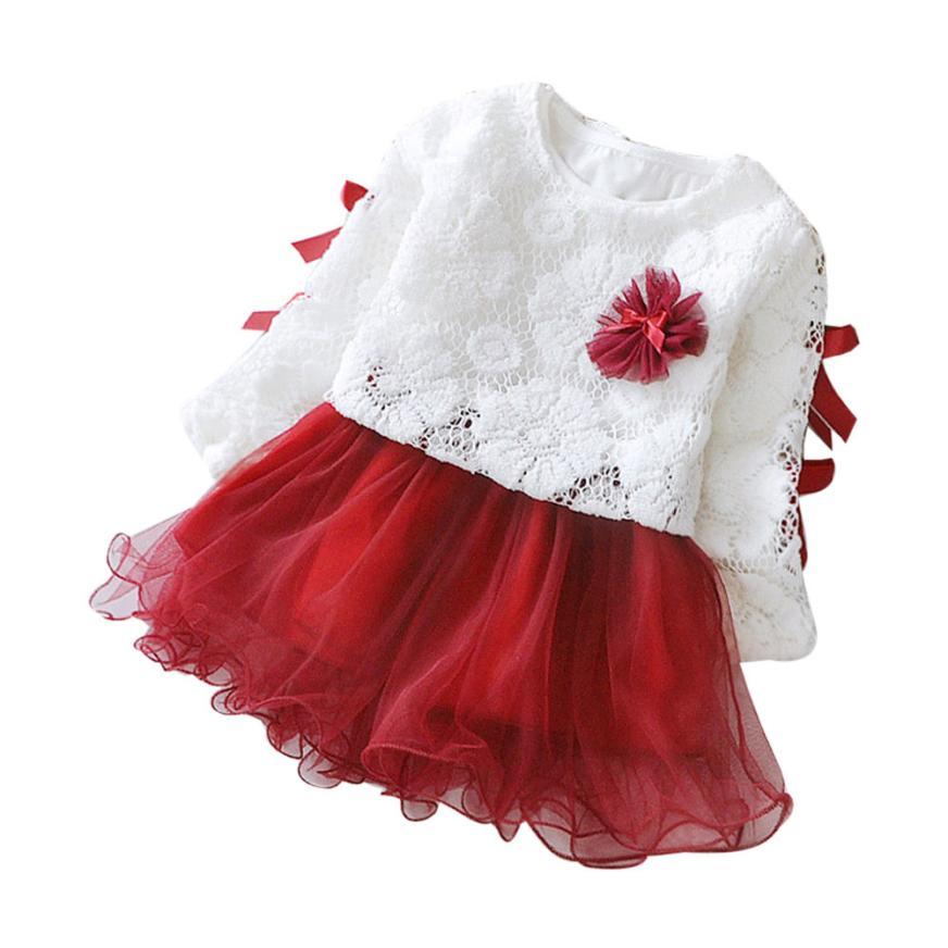 Для маленьких девочек одежды осень детские детская одежда для девочек вечерние Кружево пачка Одежда принцессы наряды детская Костюмы #50