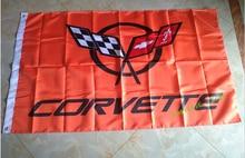 Envío gratis corvette 3X5FT bandera bandera suministros de CARRERAS de 100% poliéster