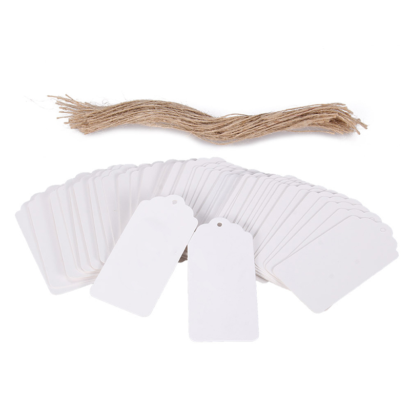 Kraft Paper Tags Flower Head Tag Blank Gift Tags Label Marks Decoration Wedding DIY Paper Craft 100Pcs-Lot