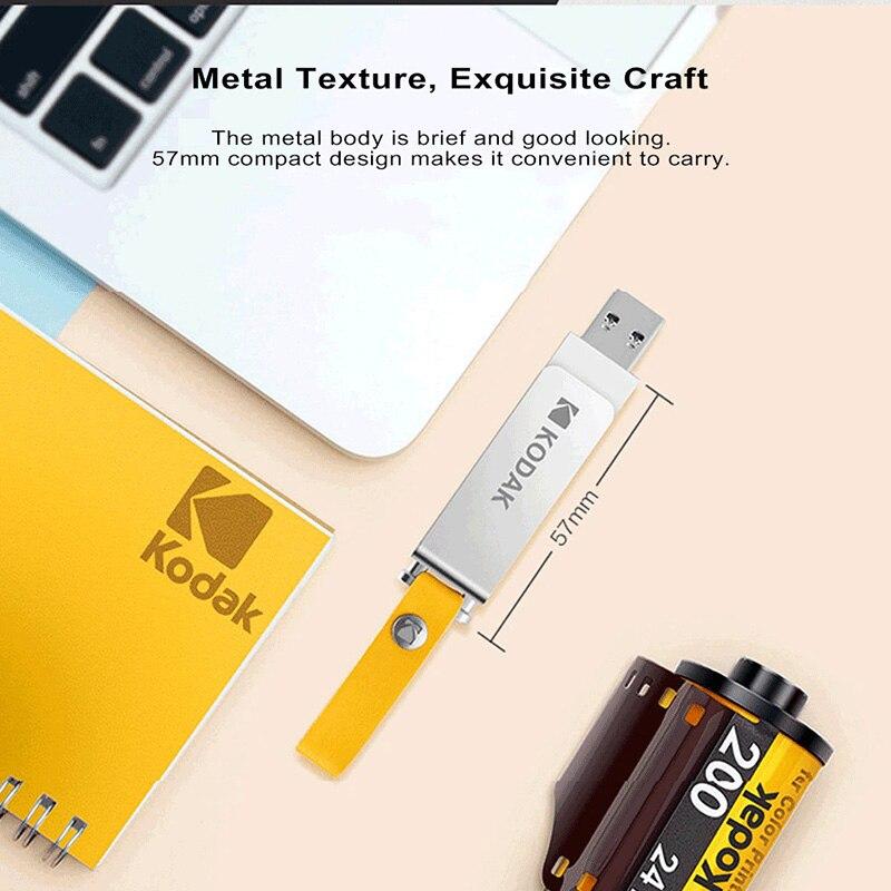Image 5 - Kodak K133 pen drive USB 3.1 Metal USB Flash Drive 16GB 32GB Memory stick USB 3.0 64GB 128GB U Disk 256GB pendrive USB Stick-in USB Flash Drives from Computer & Office