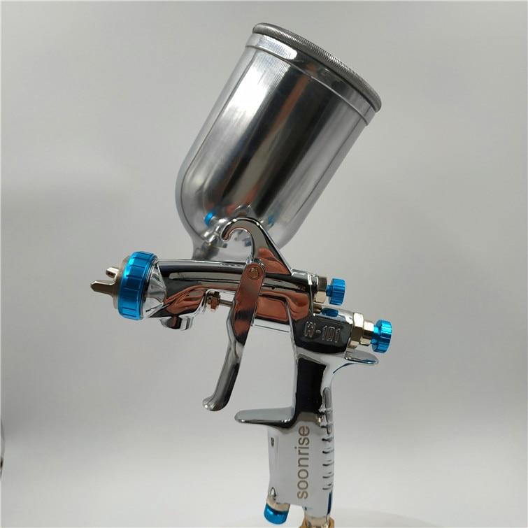 free shipping, Japan W101-134G spray gun,W-101 HVLP manual car painting gun,gravity feed type with cup,w101 Pistola de pintura