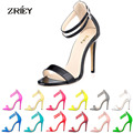Women High Heel Sandals Sexy Pointed Toe Ankle Strap Heels Women Pumps Party Wedding Shoes