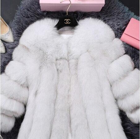 Manteau 2018 De Unique O Et Vente Directe Long cou Cadrage Gilet Finlande Régulier Nouvelle Fourrure Rouge Sept gris marron Trimestre blanc Pzwq1Pr