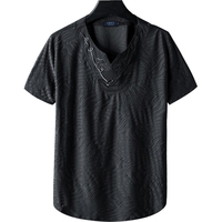 Brand Clothing V neck Mercerized cotton Men's T Shirt Men Fashion Tshirts loose Casual For Male T shirt M 9XL Free Shipping