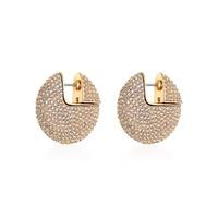 2019 New Brand Fashion Iconic Jewelry Crystal Dangle Earrings Full Zircon For Women Modern Round Circle Fancy Earrings