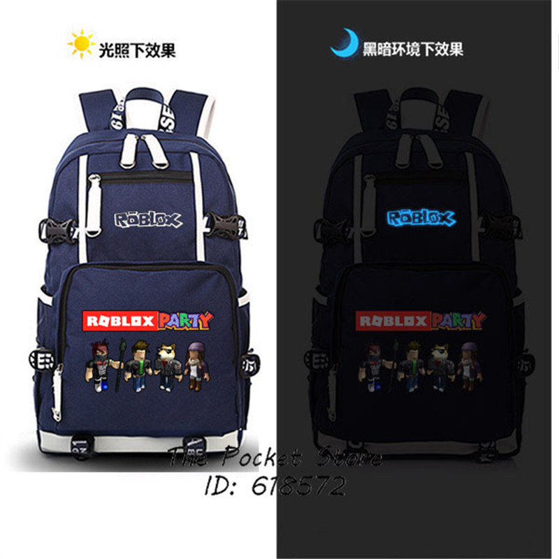 Hot Game Roblox Party Casual Backpack for Teenagers Canvas School Bags Printing Laptop Backpack Double Shoulder