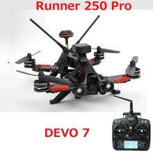 (Dalam stok) asli Walkera Pelari 250 PRO GPS Racer quadcopter drone dengan kamera 800TVL atau 1080 P/OSD/GPS/DEVO 7 RTF transmtter