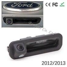 Анти-туман Автомобильная камера заднего вида для Ford хэтчбек седан 2012 2013 багажника Ручка камера Цвет ночного видения LED Парковка помощь