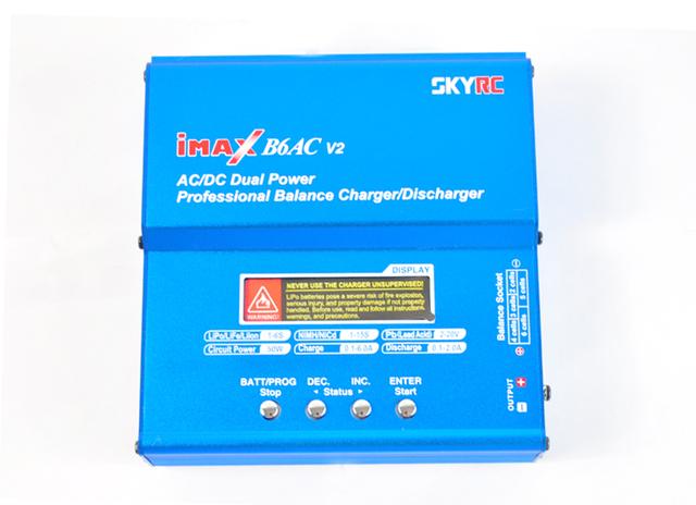 Nueva imax b6ac lipo v2 ac/dc dual skyrc rc de la energía de batería del cargador del balance/descargador con alimentación de ca 15 v 6a adaptador