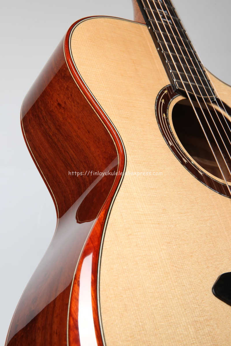 """Full Solid Guitar,41"""" Jumbo guitar with Solid Spruce Top/ Solid Santos Body,guitars china,Red wood by hand TA-JC100AE"""