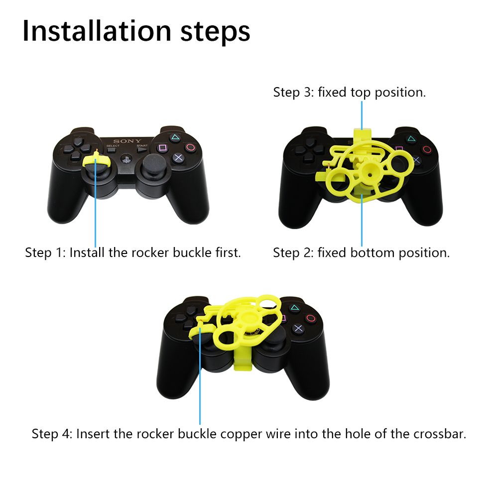 Image 5 - PS3 Gaming Racing Wheel, 3D printed mini steering wheel add on for the PlayStation 3 controller-in Replacement Parts & Accessories from Consumer Electronics