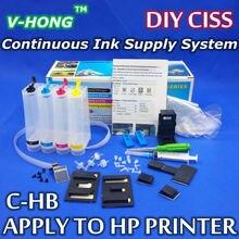 Применить для всех моделей струйных hp СНПЧ принтер с Непрерывной Подачи Чернил Универсальная система чернил для HP принтеров СНПЧ комплект с accessaries)