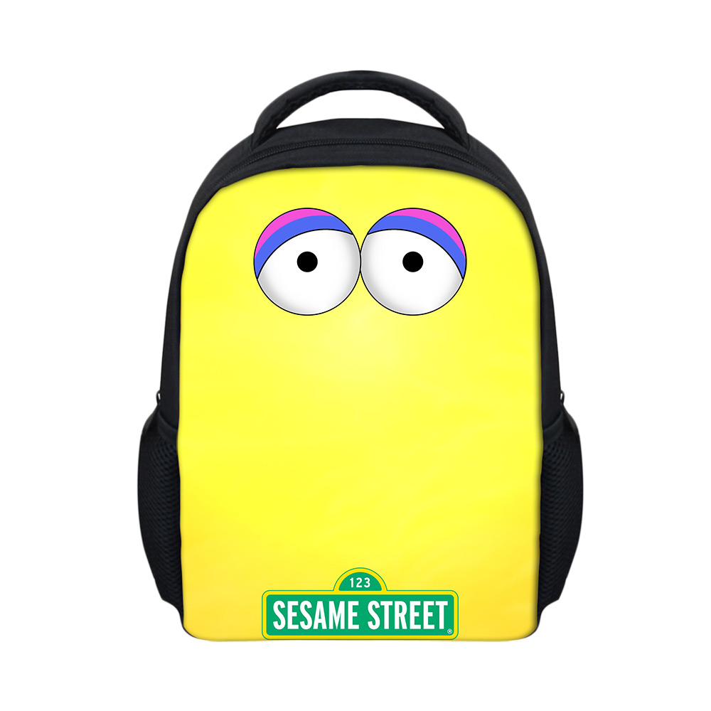 e777a95adc69 Cartoon Sesame Street Printed Kids Backpack Kindergarten Girls Boys Children  Backbag Bag Casual School Bags Mochila Feminina-in Backpacks from Luggage  ...