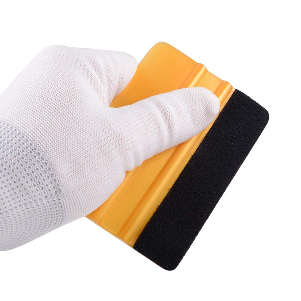 FOSHIO Vinyl Wrap Car Film Install Squeegee Carbon Fiber Wrapping Tool Auto Foil Window Tint Scraper Household Car Cleaning Tool