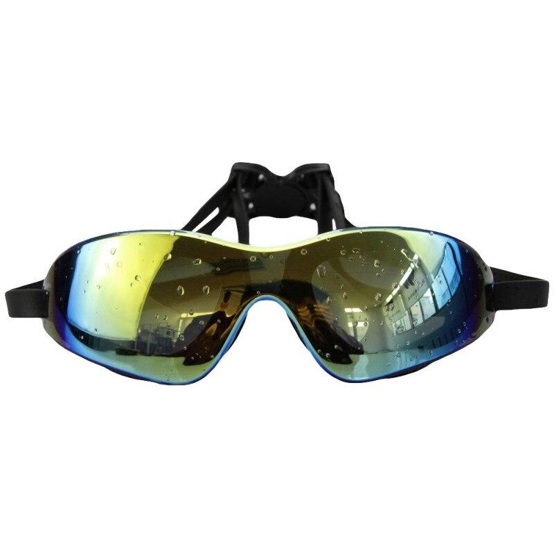 Unisex Big Colorful Eyewear Swim UV Anti-fog Glasses Protection Swimming Waterproof Goggles Anti-light Comfort