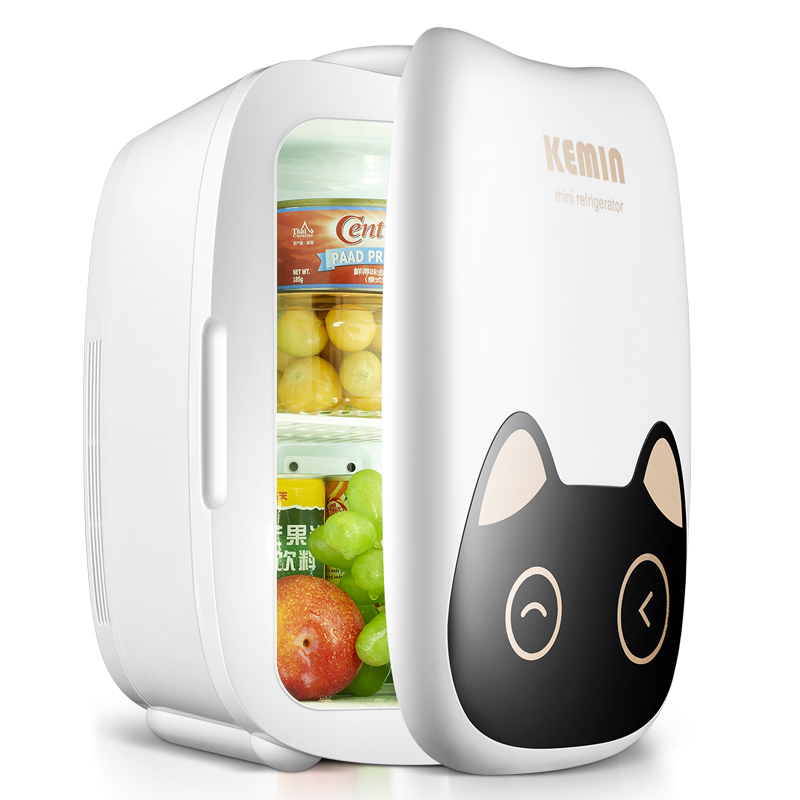 6L car / home Use Mini Fridge Small Household Renting Refrigeration Student Dormitory Store Storage Mask Cosmetics