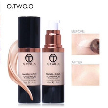 O.TWO.O New Product 4 colors Fluid Foundation Concealer Whitening Moisturizer Oilcontrol Waterproof Liquid Foundation
