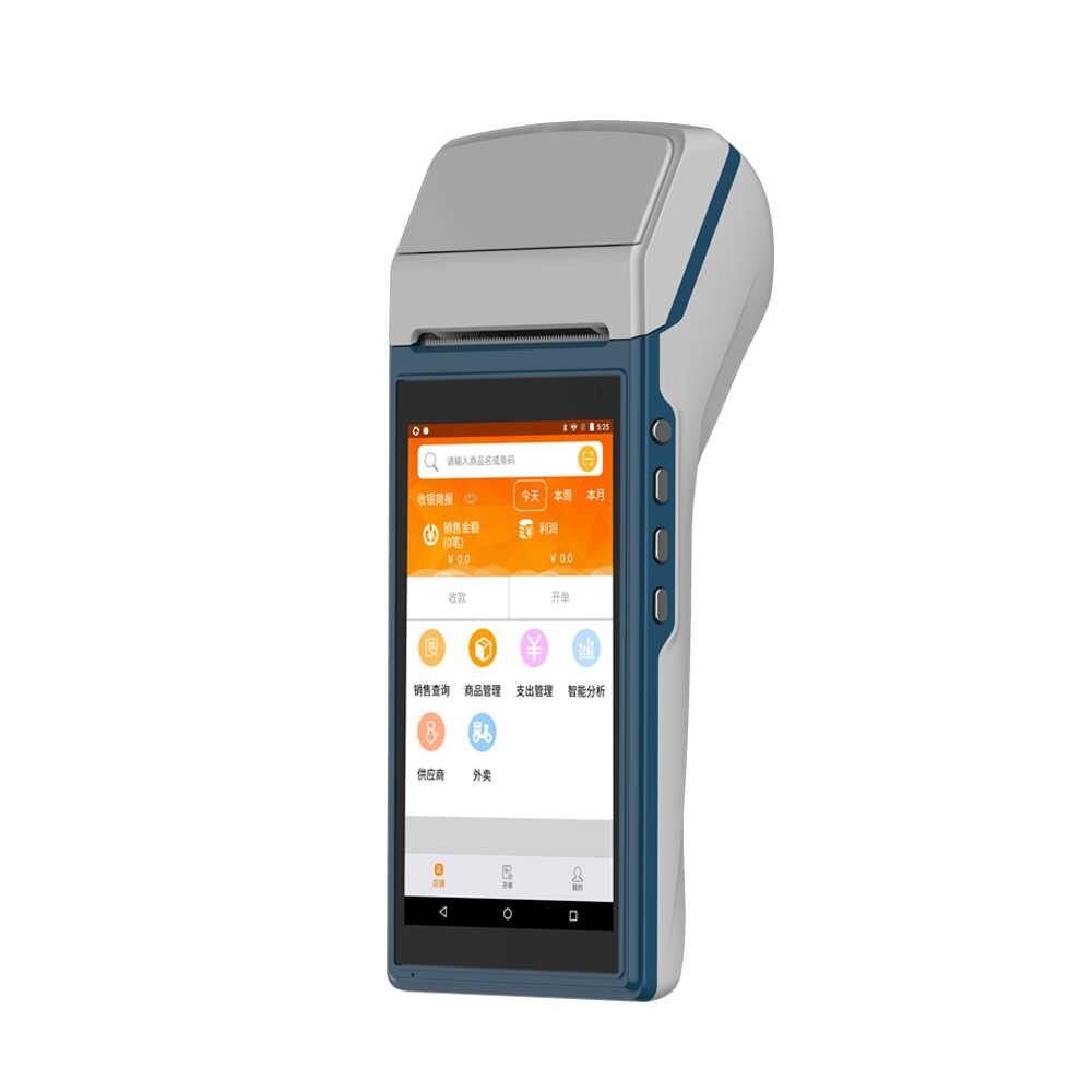 4G gprs wifi Android портативный с открытым исходным кодом Ресторан электронно-кассовый аппарат сканер штрих-кодов